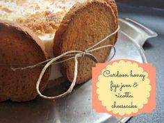 cardoon honey, figs jam and ricotta cheesecake!