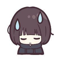 Tumblr Stickers, Anime Stickers, Anime Chibi, Anime Art, Anime Brown Hair, Anime Depression, Kawaii Chan, Girl With Brown Hair, Cute Stories