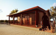 A prefabricated house that is cheap but durable Bamboo Construction, Wooden House, Build Your Dream Home, Beautiful Homes, Gazebo, Outdoor Structures, Explore, Architecture, House Styles