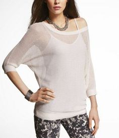 MESH DOLMAN SWEATER at Express any color
