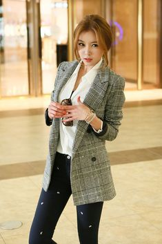 Glen Checker Wool Jacket