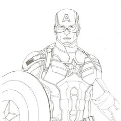 captain marvel america drawing drawings easy avengers pencil evans chris sketches για assemble draw superheroes rough inking με avenge haal
