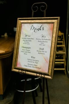 Custom drinks menu o