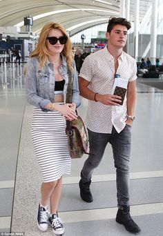Love is in the air? Bella Thorne and her rumoured boyfriend Gregg Sulkin strolled through ...