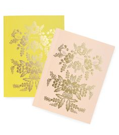 Rorschach Notebook Set  Inspired by the mirror effect of the Rorschach inkblot test, these new notebooks feature a gold foil floral p...