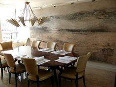 Nancy Corzine table and chairs,  Antonio Murado artwork