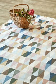Warm Alpine: 1.5 X 2.3 metres. Printed nylon. Please note that, as these printed rugs are mad...