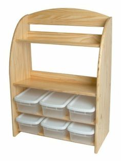 Bookcase Organizer (Natural) by Little Colorado. Save 22 Off!. $170.13. Made from 100% solid knotty pine wood. Includes six plastic bins with lids. Organizer has wood construction, your choice of color, curved side and 6 plastic bins with lids. It has the advantages of both in one efficient storage unit. Kid's bookcase - organizer has wood construction, your choice of color, curved side and 6 plastic bins with lids. 39-inches high, 27-inches wide. Includes six plastic bins with lid...