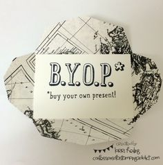 Gift Card Envelope + BYOP :: Confessions of a Stamping Addict Lorri Heiling