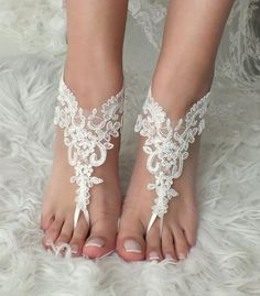 Of white lace barefoot sandals wedding barefoot lace sandals Beach wedding barefoot sandals beach Wedding sandals Bridal Sandal Barefoot Sandals Wedding, Beach Wedding Shoes, Wedge Wedding Shoes, Bridal Sandals, Beach Shoes, Barefoot Beach, Beach Sandals, Bridesmaid Sandals, Bridesmaid Gifts