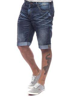 SHINE Original Herren Shorts Denim blau M