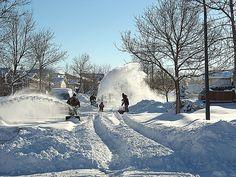 Snow in Winnipeg.