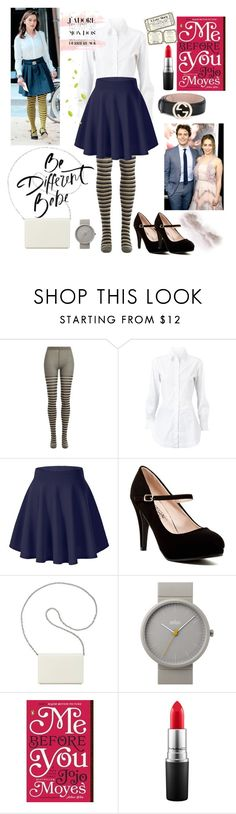 """LOUISA CLARK"" by shafsnizzler ❤ liked on Polyvore featuring Sonia Rykiel, Alaïa, Nine West, Braun, MAC Cosmetics and Gucci"
