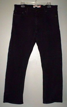 Levis 514 slim straight black wash jeans mens size 36/30 tag 34/30 actual #Levis…