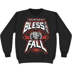 Bless The Fall Men's Hollow Bodies Sweatshirt Black - http://bandshirts.org/product/bless-the-fall-mens-hollow-bodies-sweatshirt-black/