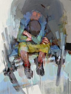 Inner Traveller, painting by Melinda Matyas - love the brushwork, each stroke so deliberate - you can really feel the emotion in this.