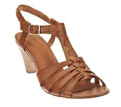 Just bought these: Clarks Artisan Evant Addy Leather T-Strap Sandals on Stacked Heels