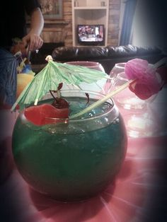 Fish bowl party drink recipes pinterest for Restaurants with fish bowl drinks near me