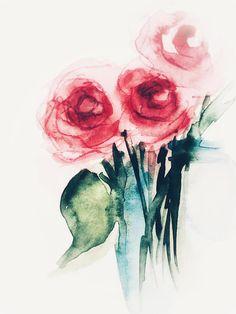 BOTANICAL FLOWER WATERCOLOUR Floral Framed painting by Sandra Mason...Lovely!