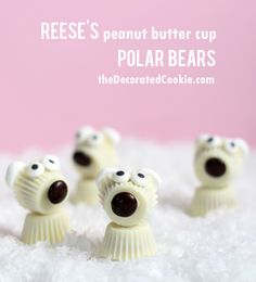white chocolate REESE'S peanut butter cup polar bears