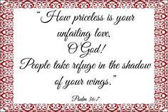 bible verses about love images Psalm 36, Psalm 119 105, Bible Verses About Love, Encouraging Bible Verses, Happy Sabbath, Love Images, Encouragement, God, Dios