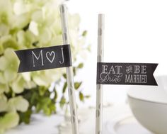 Personalized Party Flags - Eat, Drink & Be Married