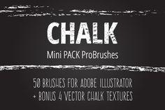 Mini Pack vector Chalk Brushes by LarysaZabrotskaya on Creative Market