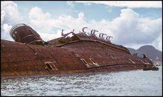 The Wreck of RMS Queen Elizabeth – Hong Kong Harbor