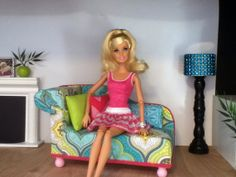 Chaise Lounge Chair Monster High furniture by ItsPerfectlyPetite, $20.00