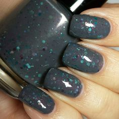 I MUST HAVE THIS!!! 'Scattered Snapshots' by CandiedApplePolish: Hand Mixed 5 Free Indie nailpolish