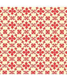 Red Kitchen Flower Print Italian Paper ~ Carta Varese Italy