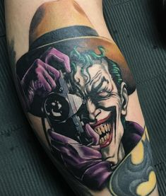 Joker With Camera Tattoo