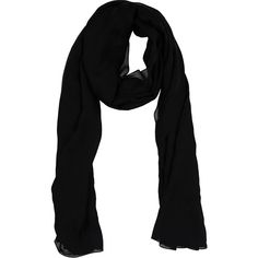 Jimmy Choo Scarf ($195) ❤ liked on Polyvore featuring accessories, scarves, black, jimmy choo and logo scarves