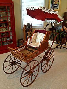 victorian baby strollers | Antique-Victorian-Baby-Carriage-Buggy-Baby-