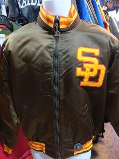 Vintage 80s SAN DIEGO PADRES MLB Starter Nylon Jacket L (Mint)