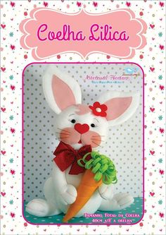 Fieltro Felt Diy, Felt Crafts, Diy And Crafts, Quilled Paper Art, Christmas Stockings, Christmas Ornaments, Bunny Rabbit, Glass Ornaments, Baby Shower Decorations
