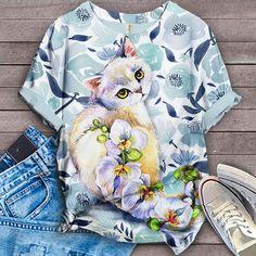 Cat Shirt Bird Shirt, Cat Shirts, Tees, Women, Fashion, Moda, T Shirts, Women's, La Mode