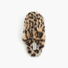 81ddaf629a4 Crew Girls  faux-fur slippers in leopard print