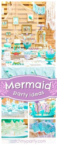 Dive under the sea into this Little Mermaid inspired birthday party. The octopus cake pops are adorable!! See more party ideas and share yours at CatchMyParty.com