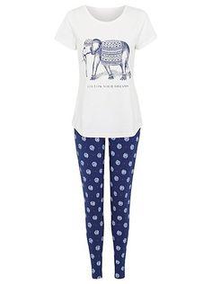 Marks And Spencer M/&S Star Print Long Sleeve Cotton Rich Pyjamas PJ/'s 6-20 NEW
