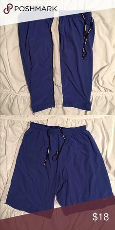 Nike Dry Fit Shorts Nike Dri-fit shorts blue with white stripe down side. Medium. Nike Shorts Athletic