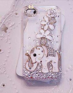 Bling elephant phone case
