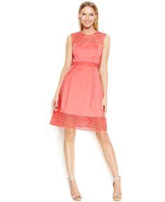 Calvin Klein Fit & Flare Dress - Dresses - Women - Macy's