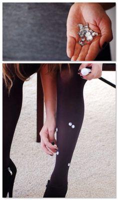DIY meia calça com cristais