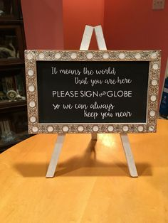 Globe guest book sign by rkgeorge on Etsy