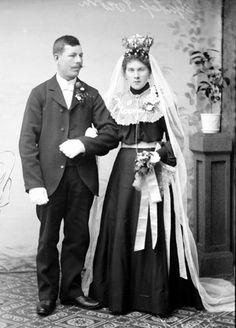 Brudpar från Enånger 1910-tal.