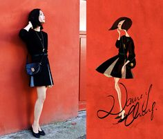 o desenho esta d+ - Black cat! (by Nancy Zhang) http://lookbook.nu/look/3953684-Black-cat