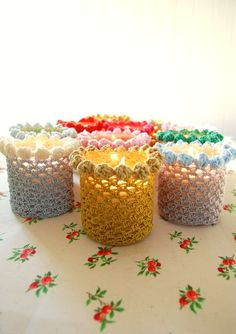 bobbled candle holder cover pattern...