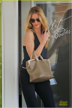 Rosie Huntington-Whiteley stepping out after a workout session at Ballet Bodies in West Hollywood