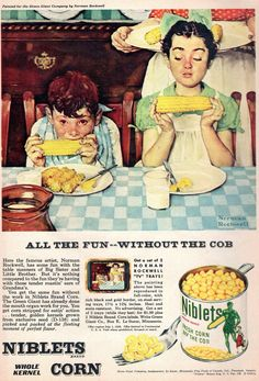 Cute little kids! Vintage Ads Food, Vintage Cooking, Vintage Recipes, Retro Vintage, Retro Food, Vintage Ephemera, Vintage Images, Retro Advertising, Retro Ads